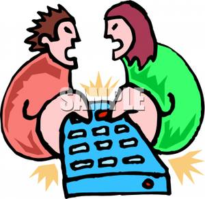 300x291 Couple Fighting Over The Remote Control