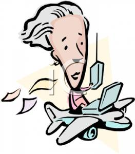263x300 A Colorful Cartoon Of A Man Riding In A Remote Control Plane