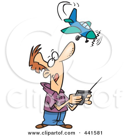 450x470 Royalty Free (Rf) Clipart Of Remote Control Planes, Illustrations