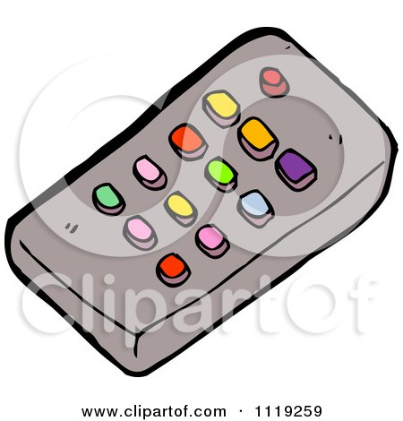450x470 Cartoon Of A Tv Remote Control With Colorful Buttons