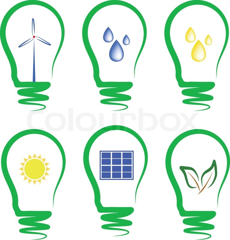 767x800 Concept, Symbolizing The Alternative Energy Stock Vector Colourbox