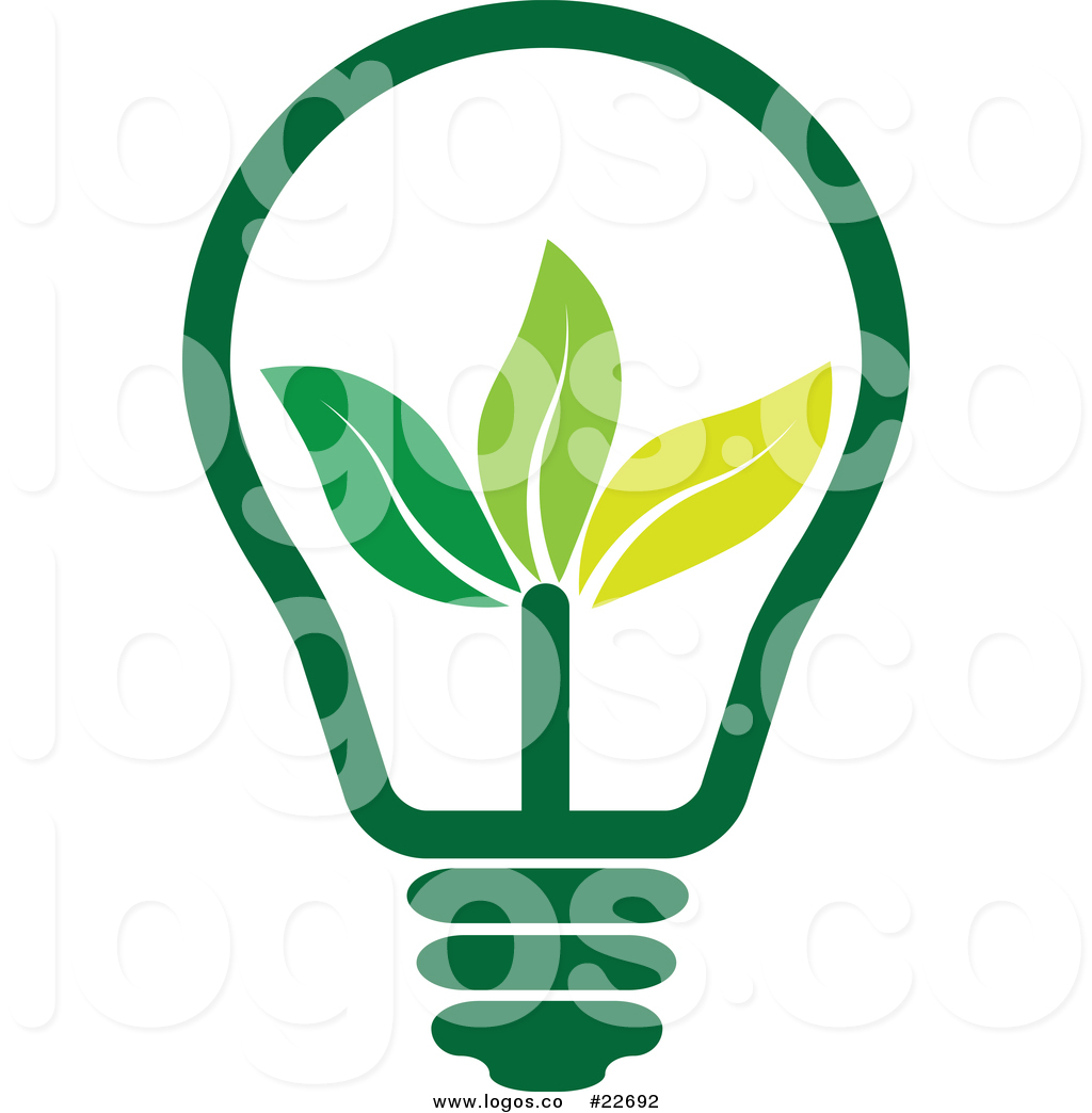 1024x1044 Vector Logo Of A Green Energy Light Bulb With Leaves By Colormagic