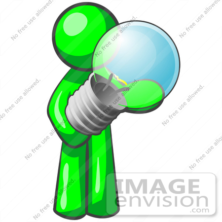 450x450 Cliprt Graphic Of Green Guy Character Standingnd Holding