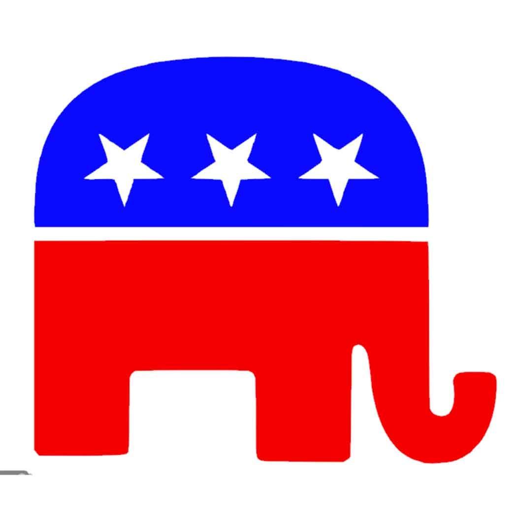 1050x1050 Presidential Republican Elephant Vinyl Decal Decal