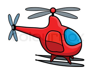 320x240 Flying Helicopter Isolated On White As A Rescue Symbol Stock