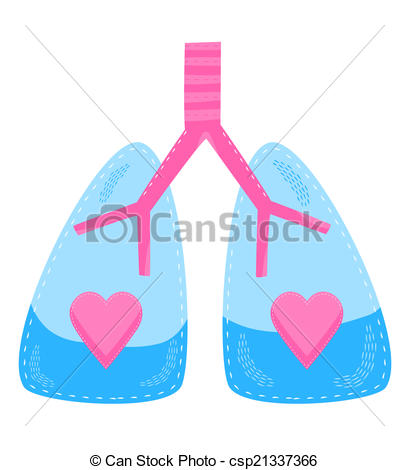 409x470 A Concept For Healthy Lungs And Respiratory System. Stock