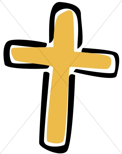 486x612 Collection Of Gold Clipart Cross High Quality, Free Cliparts