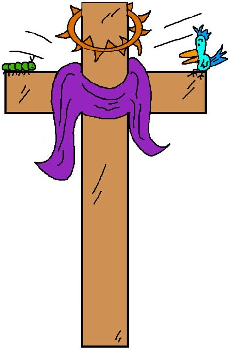 476x719 Cross With Thorns Clipart Easter Cross Clipart Easter Clip Art