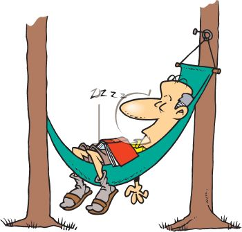 350x335 Royalty Free Clip Art Image Retired Man Resting In A Hammock