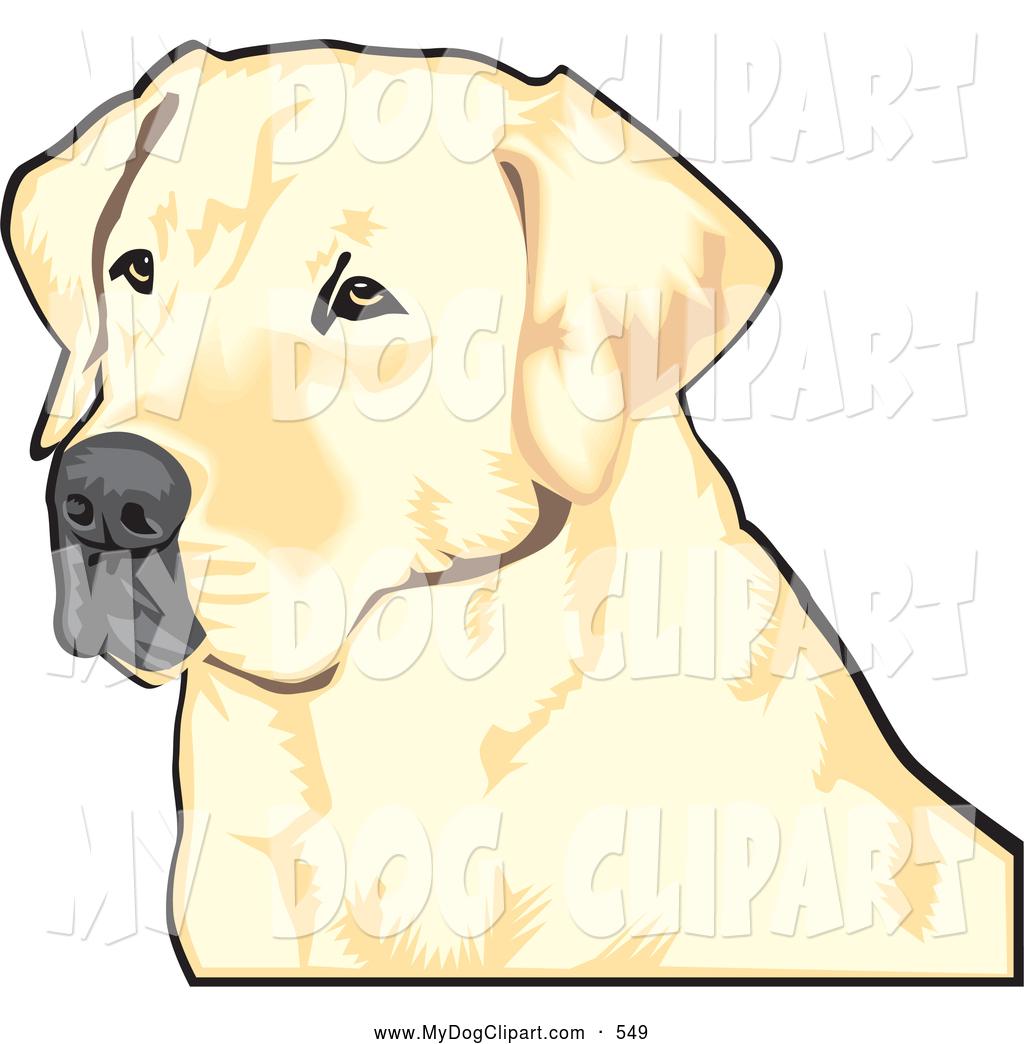 1024x1044 Clip Art Of A Cute Yellow Labrador Retriever Dog With A Black Nose