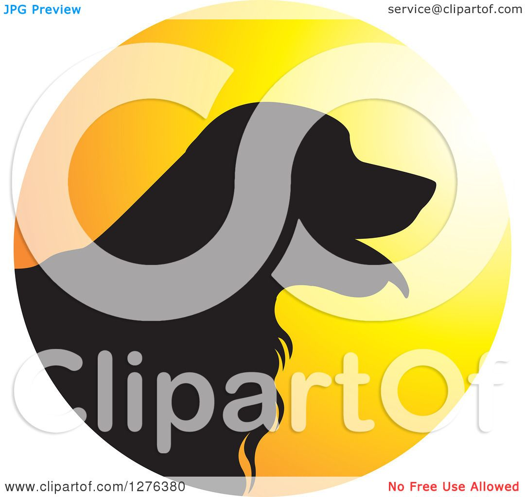 1080x1024 Clipart Of Black Silhouetted Golden Retriever Dog Panting In