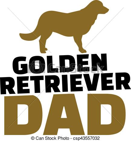 434x470 Golden Retriever Dad With Dog Silhouette Vectors