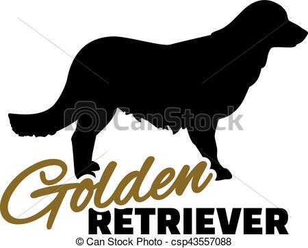 450x362 Golden Retriever With Word Vector