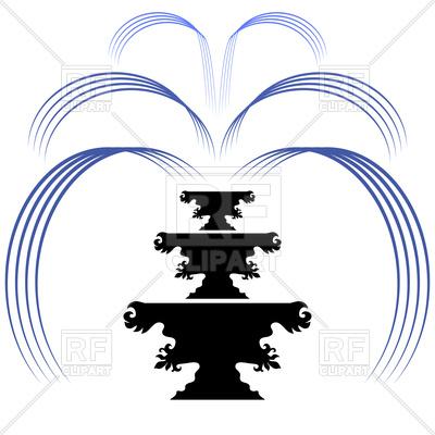 400x400 Retro Fountain Silhouette Icon On A White Background Royalty Free