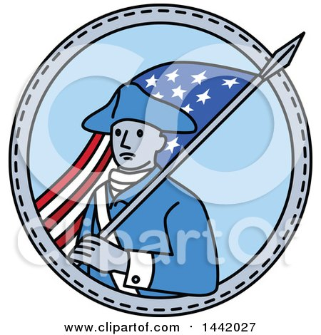 450x470 Clipart Retro American Revolutionary War Soldier Patriot Minuteman
