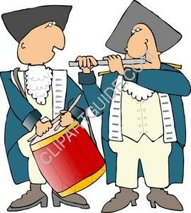 269x300 Clipart Of Revolutionary War Drummer And Piper