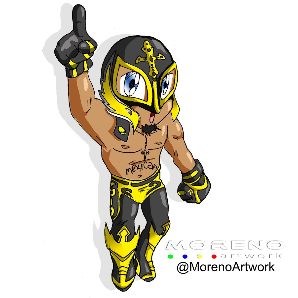 1200x1200 Moreno Artwork On Twitter My Hero @reymysterio Is Back