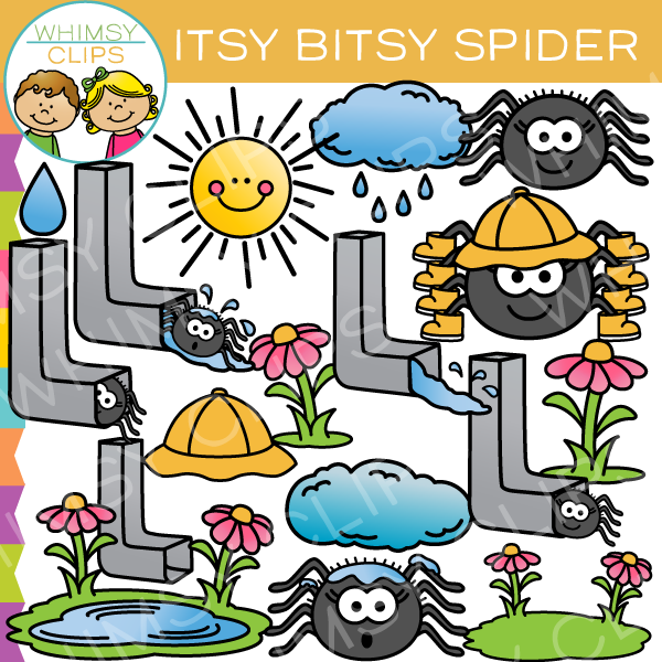 600x600 Itsy Bitsy Spider Nursery Rhyme Clip Art , Images Amp Illustrations