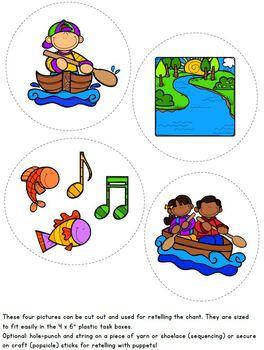 264x350 Row, Row, Row Your Boat Nursery Rhyme Literacy Tasks By Positively