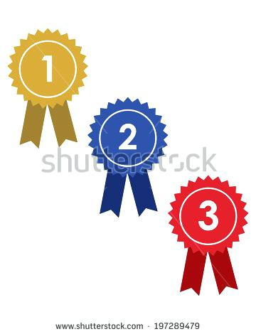 360x470 2nd Place Ribbon Clip Art Silver Place Rosette Badge With Red