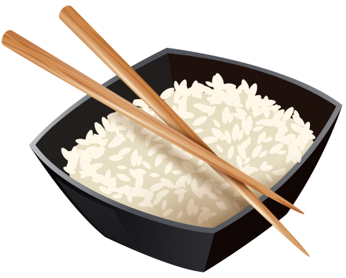 500x401 Chinese Rice And Chopsticks