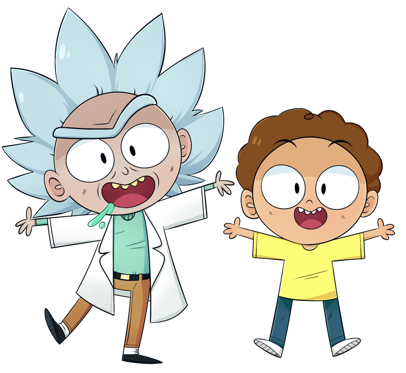 800x735 Rick And Morty Stickers By Ecokitty