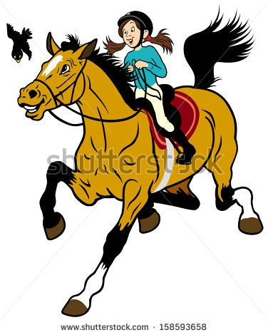 Riding Horse Clipart