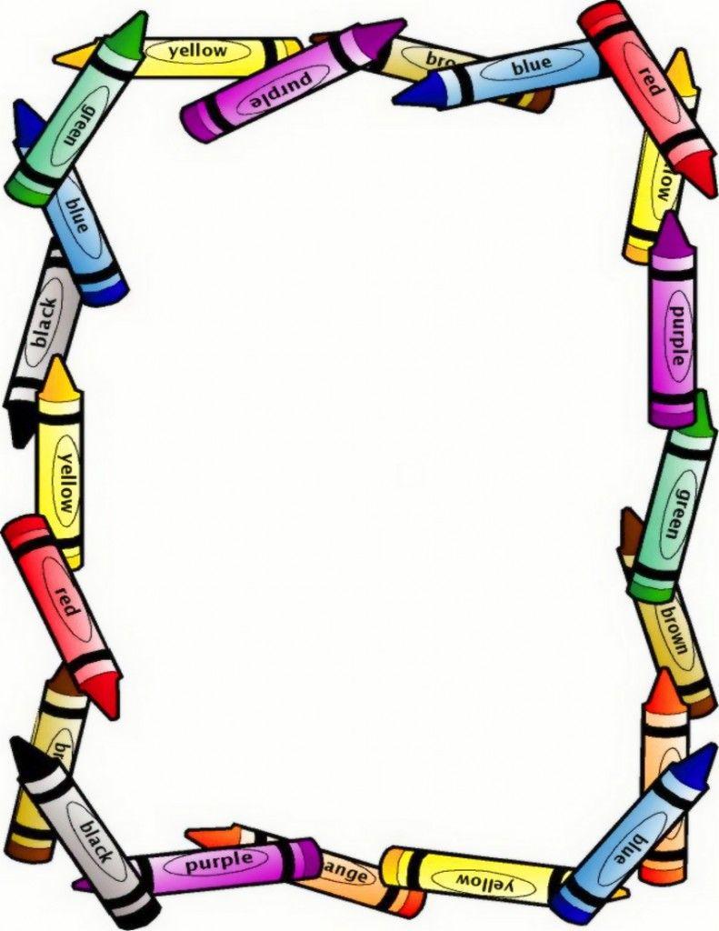 791x1024 Clip Art Borders Clip Art Clip Art, Crayons And School