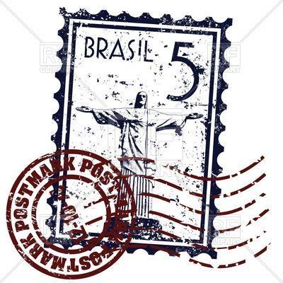 400x400 Postage Stamp With Symbol Of Rio De Janeiro