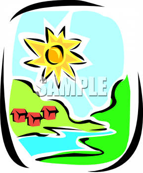 289x350 River Valley Clipart