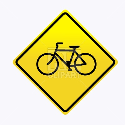 400x400 Bicycle Road Sign Free Download Vector Clip Art Image