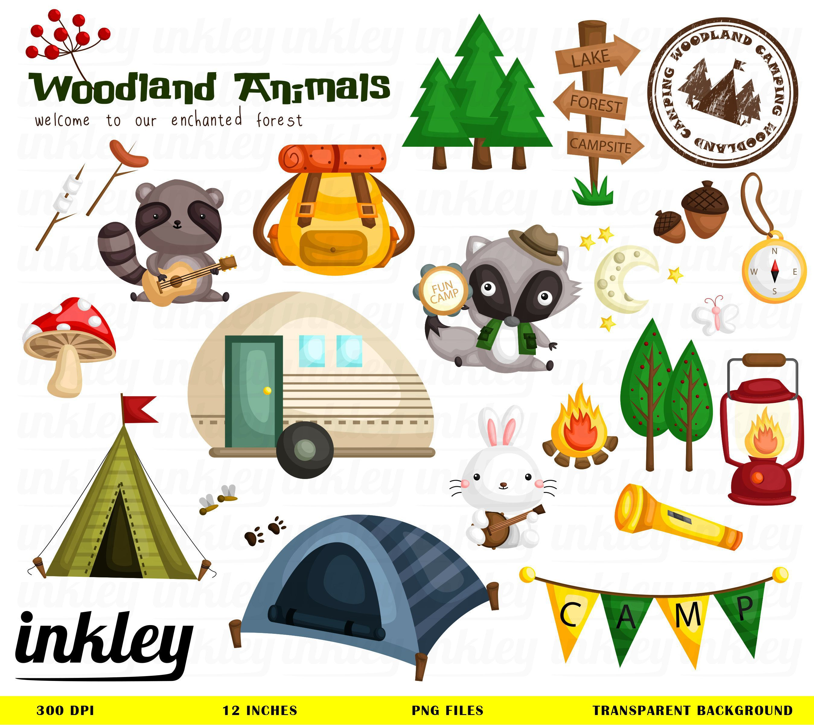 2697x2402 Camping In The Woods Clipart Awesome Kit Road Trip
