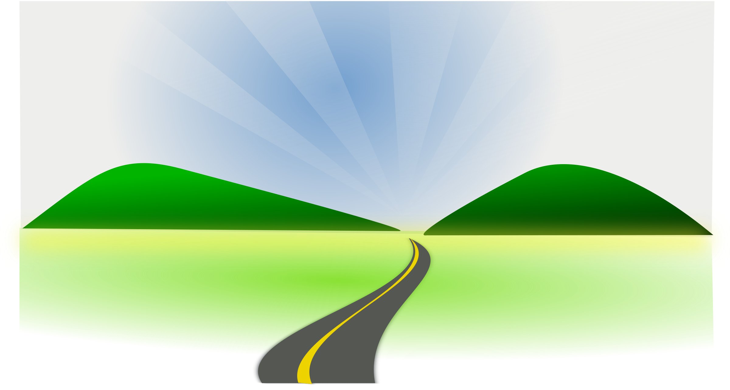2400x1283 Clip Art Clip Art Of A Road