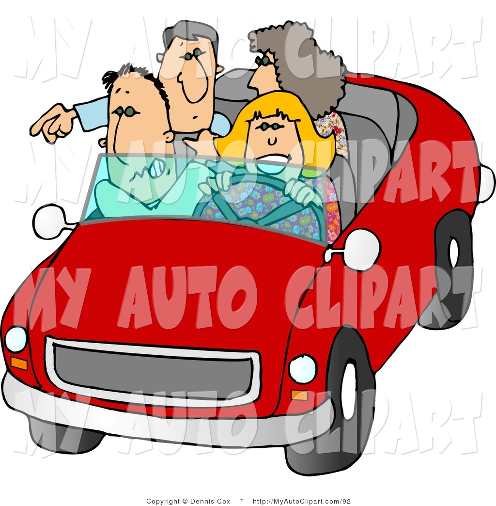 1024x1044 Clip Art Of Two Double Date Couples Going On A Road Trip By Djart