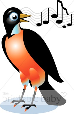 251x388 Singing Red Robin Clipart Bird Clipart