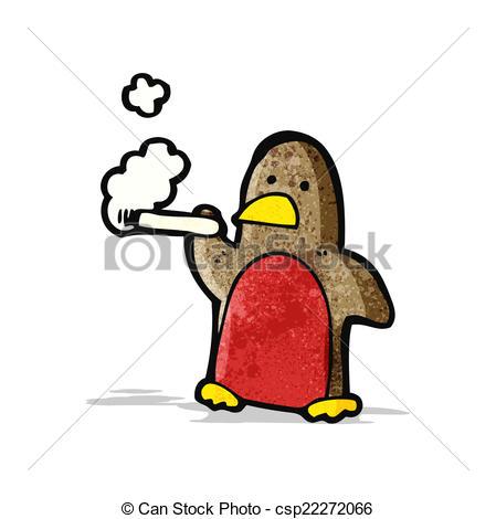 449x470 Cartoon Smoking Chirstmas Robin. Cartoon Smoking Christmas Clip