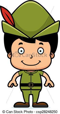248x470 Cartoon Smiling Robin Hood Boy. A Cartoon Robin Hood Boy