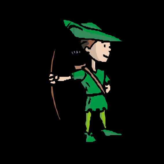 567x567 Robin Hood Little John Clip Art