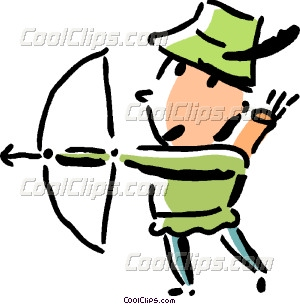 300x304 Robin Hood With His Bow And Vector Clip Art