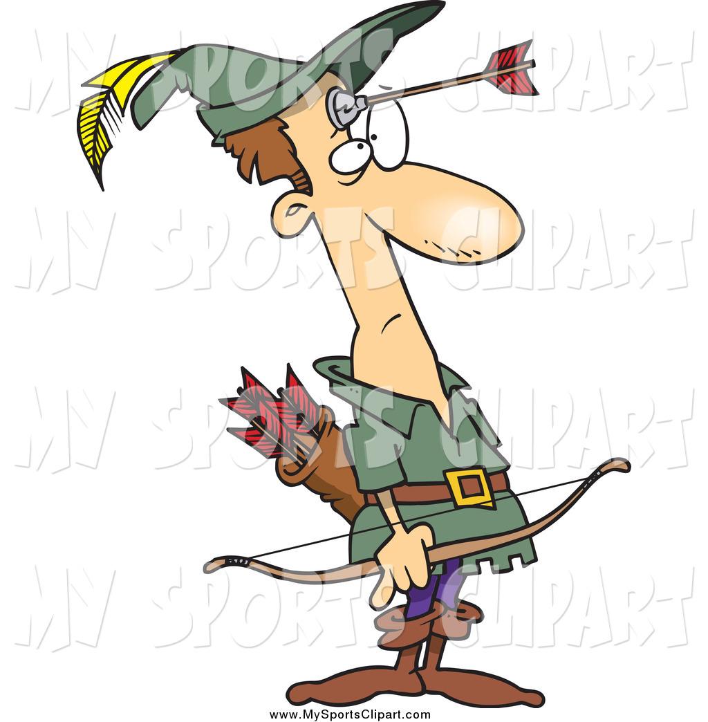 1024x1044 Sports Clip Art Of A Cartoon Unhappy Robin Hood With An Arrow