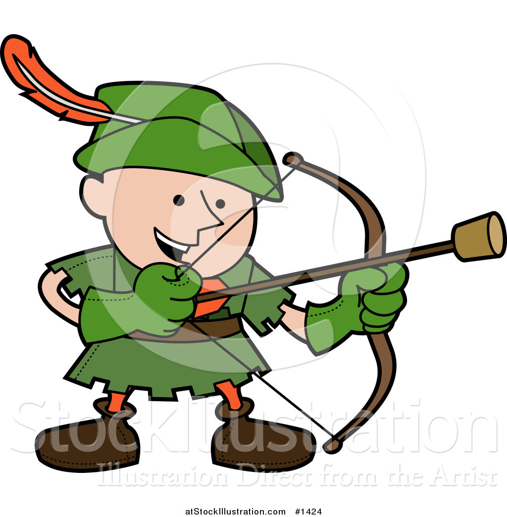 1024x1044 Vector Illustration Of A Happy Boy In A Green Robin Hood Costume