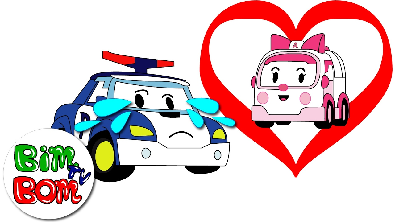1280x720 Poli Robocar Fell In Love With Amber. Happy Valentine's Day