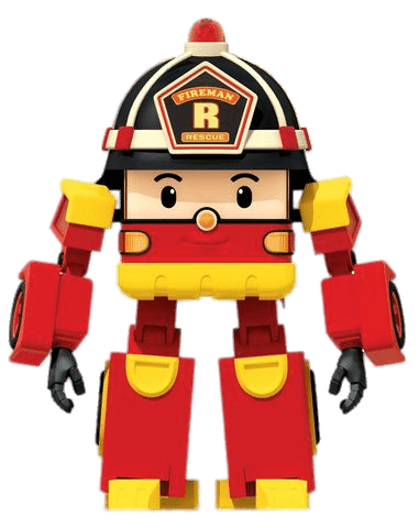 381x480 Robocar Poli Character Roy The Fireman Transparent Png