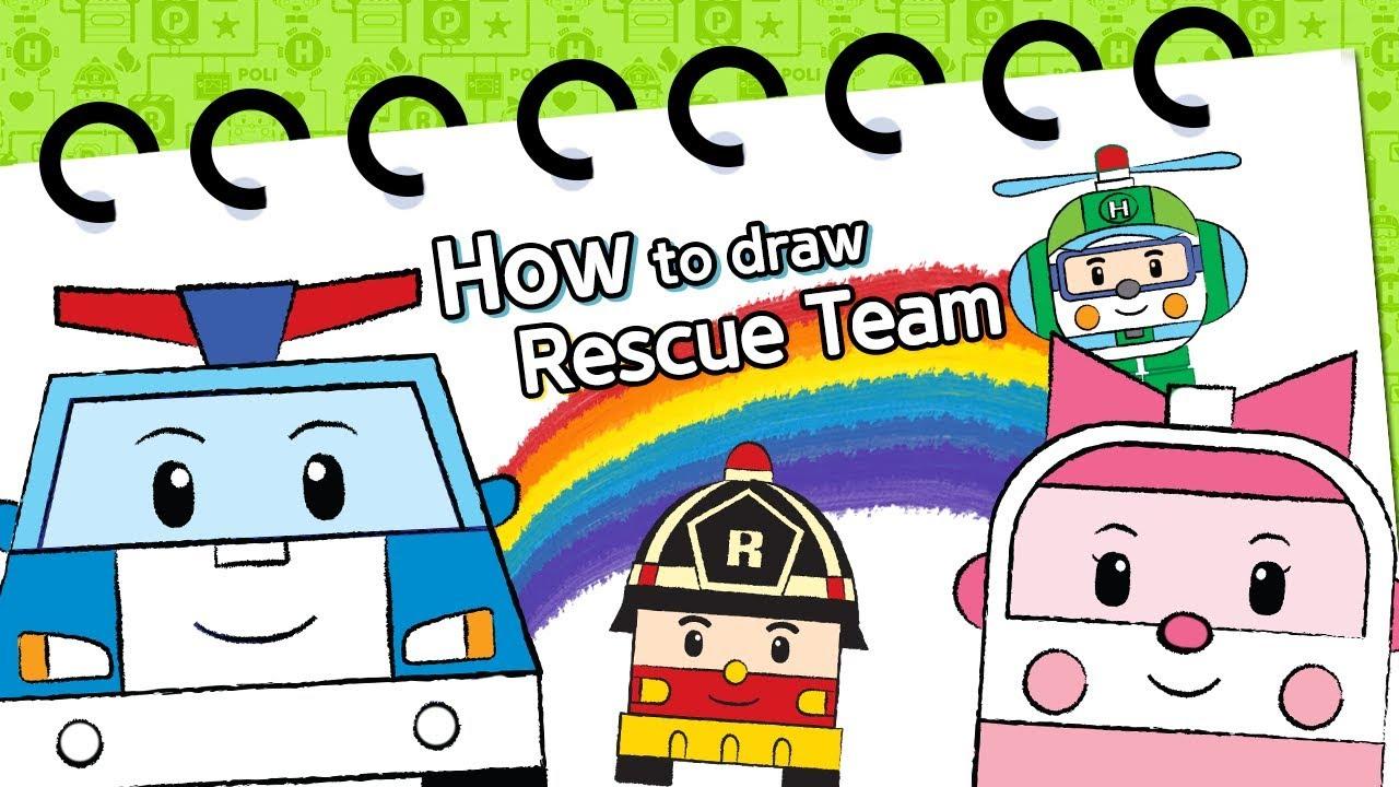 1280x720 How To Draw Rescue Team Robocar Poli Kids Animation