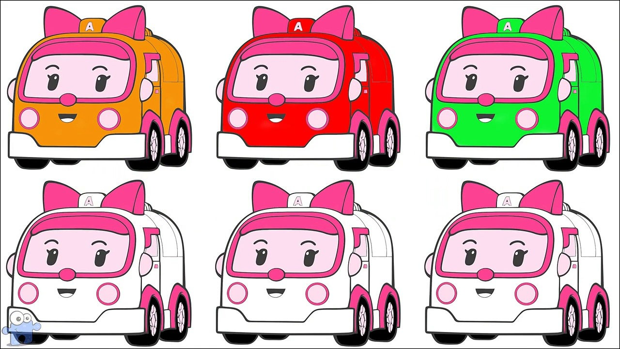 1280x720 Learning Colors With Street Vehicles Robocar Poli Amber