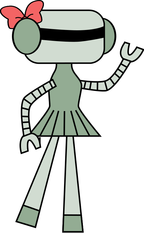 495x800 Free Clipart Girl Robot Dear Theophilus