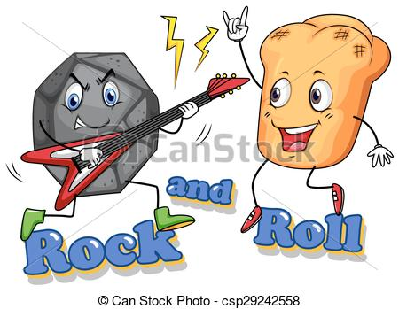 450x349 Rock And Roll With Facial Expression Clipart Vector