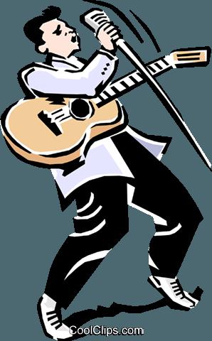 298x480 Rock N Roll Musician Singing Royalty Free Vector Clip Art