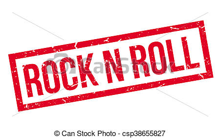 450x282 Rock N Roll Rubber Stamp On White. Print, Impress, Clip Art