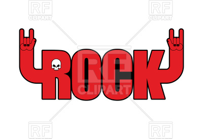 400x274 Letters With Hands, Rock And Roll Sign, Logo For Rock Festival